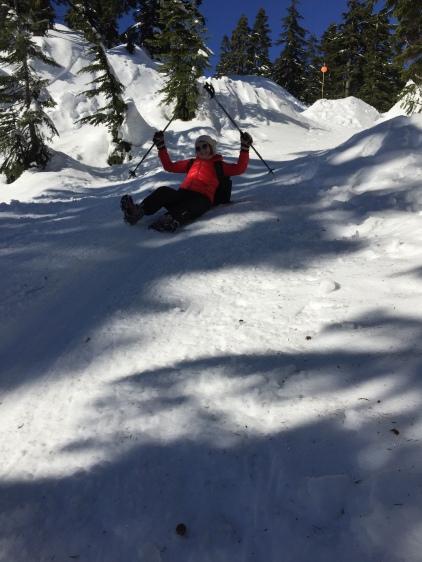 but loved sliding down